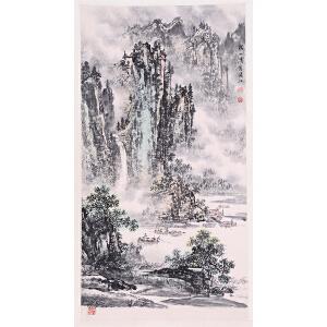 国画艺术家、教授    陶一清《漓江山水》