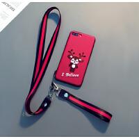 刺绣鹿苹果Xs Max手机壳挂绳iphone7/8plus套创意6sp情侣女款XS壳6s手机壳防摔苹 苹果6/6S(4