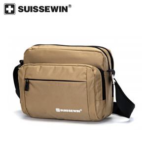 【SUISSEWIN旗舰店 支持礼品卡支付】商务休闲斜跨包外出便携背包简洁时尚包包