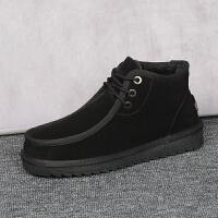 男士雪地靴保暖加绒东北棉鞋男短筒休闲短靴男鞋雪地棉靴鞋冬季潮