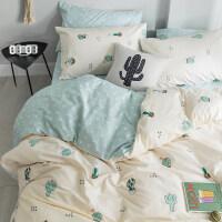 北欧风纯棉网红款床上用品四件套宿舍床单三件套儿童被套床笠