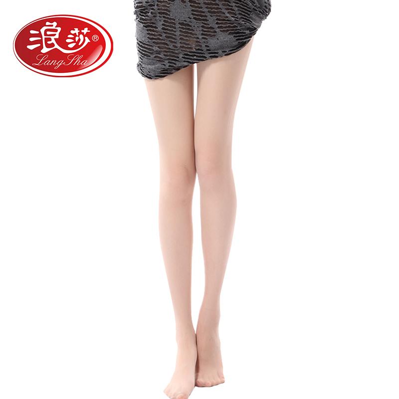 【5条装】浪莎丝袜超薄款防勾丝夏季脚尖透明连裤袜性感肉色打底袜子女(单加档) 浪莎正品,低价促销