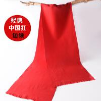 中国红仿羊绒围巾定制LOGO刺绣印字同学聚会围脖年会活动披肩