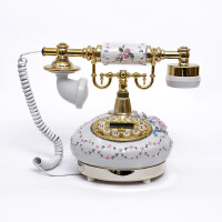 至臻创意电话机田园时尚可爱仿古电话欧式家用美式复古座机礼品