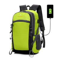 2018新款夏季USB充电包 男士运动双肩包 女户外旅行背包