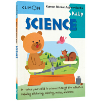 Kumon Sticker Activity Books Science K&Up 公文式教育 4岁+幼儿自然科学学习