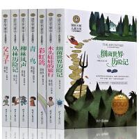 国际大奖儿童文学小说彩色套装共7册 柳林风声 丛林历险记 父与子 青鸟 彩虹鸽 木头娃娃的旅行 细菌世界畅销课外读物书