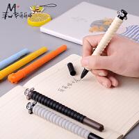 M&G/晨光 中性笔 黑色0.5mm 软硅胶笔杆 颜色随机 小羊肖恩系列 萌萌哒水性笔 签字笔 碳素笔AGPY7501