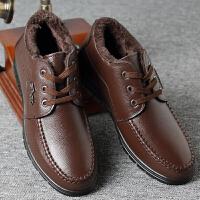 冬季男士棉鞋头层牛皮系带加厚加绒保暖休闲男保暖真皮男鞋