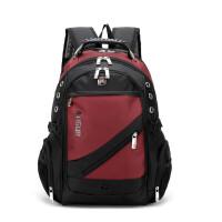 男生书包大学生高中生双肩背包大容量男包牛津布户外旅行包电脑包 17寸