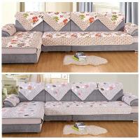 【双面九件套】四季通用布艺简约现代全包欧式沙发通用组合沙发垫 买一套等于两套