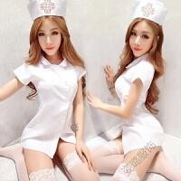 性感女诱惑护士制服套装低胸领开衩睡衣DS夜店 均码