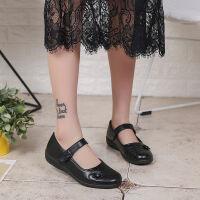 妈妈单鞋方扣皮鞋平跟软底老人鞋时尚舒适奶奶女中老年皮鞋女 337