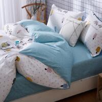 床上四件套全棉纯棉天北欧床单被套床品三件套床上用品 四件套 适用1.8-2m床 建议搭配220*240