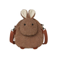 百搭少女斜挎包可爱兔子羊羔毛包包女冬季毛绒包