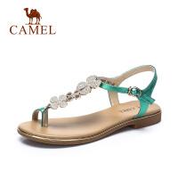 camel骆驼女鞋春夏新品 清凉优雅简约平跟女凉鞋 日常休闲鞋