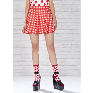 【2件2.5折到手价:6.25】美特斯邦威夏装女装伞型染整半裙258111庥