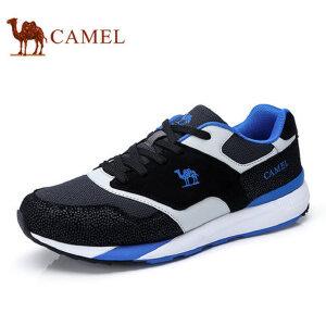 camel 骆驼男鞋秋季新品男士轻盈透气舒适拼色潮流时尚运动休闲鞋