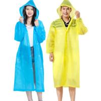 非一次性雨衣女韩国时尚徒步男骑行透明便携防水儿童户外雨披