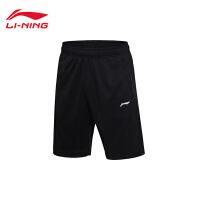 李宁短裤短卫裤男士2017新款训练系列夏季针织运动裤AKSM123