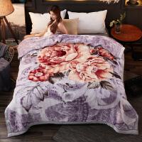 冬季加厚双层珊瑚绒毛毯被子大红陪嫁结婚庆拉舍尔云毯10斤8 灰色 11斤