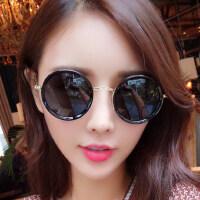 墨镜女潮 眼镜偏光太阳镜女士圆脸复古眼镜 支持礼品卡支付