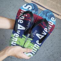 人字拖男士凉拖鞋夏季海边潮流沙滩社会防滑潮男夹脚学生韩版个性 XS 建议38-39脚