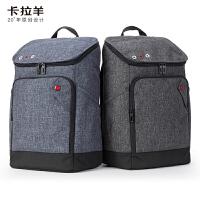 【2件5折】卡拉羊简约多功能休闲大容量男女旅行笔记本电脑背包初高中生双肩包成人双肩包CX5017
