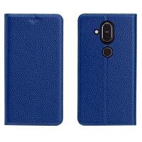 诺基亚9手机壳X7皮套微软950XL全包保护套手机套Lumia950荔枝纹 洛基亚X7 荔枝纹宝蓝