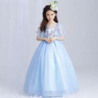 儿童婚纱礼服公主裙 女童礼服蓬蓬裙 走秀钢琴裙