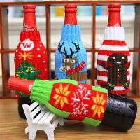 圣诞节装饰品老人红酒袋圣诞红酒瓶套