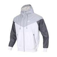 NIKE耐克男装运动防风衣休闲夹克连帽外套AR2192-100