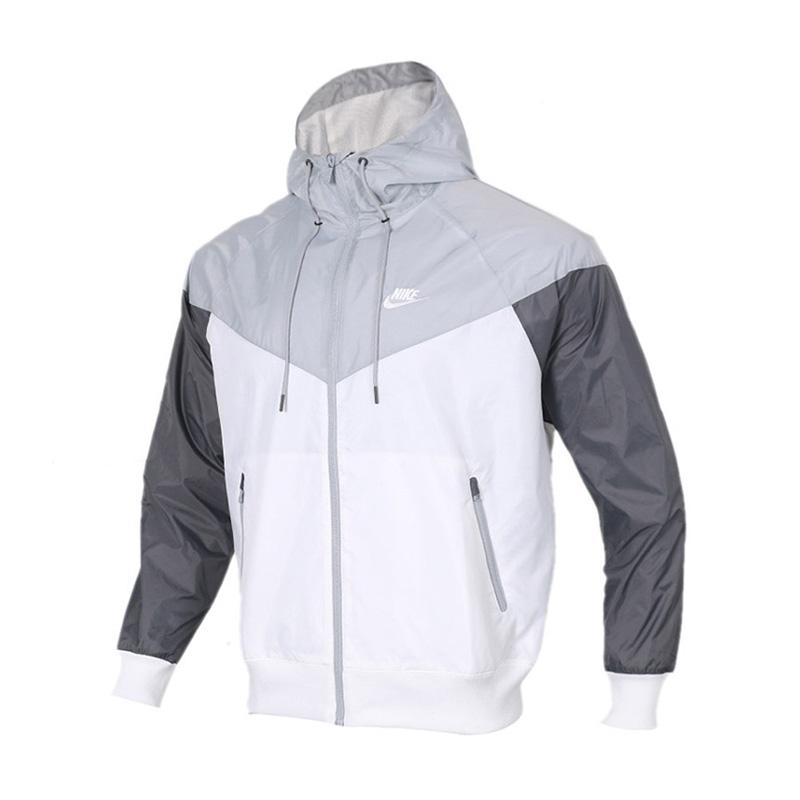 NIKE耐克男装运动防风衣休闲夹克连帽外套AR2192-100 运动防风衣休闲夹克连帽外套