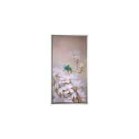 美想客厅油画现代装饰画花卉竖版玄关走廊中式挂画玉兰花小鸟油画 103x203 单幅
