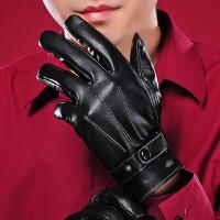 真皮手套 男冬加厚保暖 手套男冬骑车 韩版 触屏羊皮手套