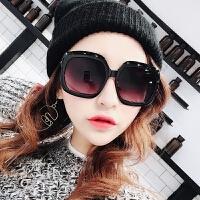 个性大框太阳镜女黑框渐变色墨镜时尚街拍装饰眼镜圆脸