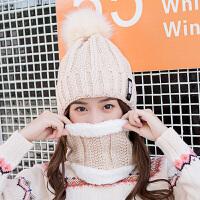 帽子女冬季加绒针织帽甜美可爱女士百搭保暖秋冬毛线帽