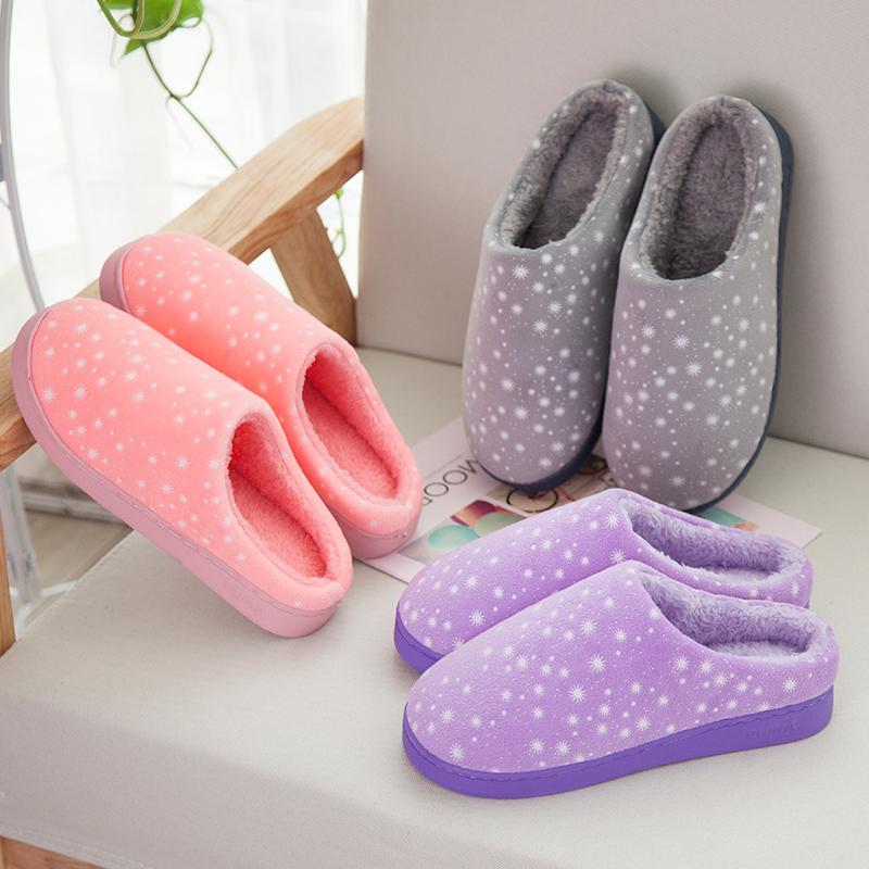 棉拖鞋女冬季2018新款半包跟室内居家居情侣防滑毛绒拖鞋冬天男士 3款图案 4色可选 简约清新 保暖防滑