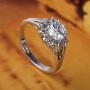 太阳花满钻微镶仿真求婚结婚钻戒指女气质配饰品