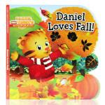 Daniel Loves Fall丹尼尔喜欢秋天 英文原版绘本 儿童启蒙图画纸板书 亲子互动
