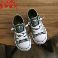茉蒂菲莉 儿童帆布鞋 2017新款男童休闲布鞋运动鞋子满额减韩版女童水洗牛仔鞋童鞋