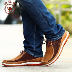 骆驼牌 春季新款时尚日常休闲 男士皮鞋潮流轻便系带男鞋子