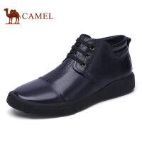 camel 骆驼男鞋秋冬高帮鞋潮流休闲男靴加绒男士皮靴子