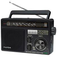 PANDA/熊� T-09全波段�_式老年人收音�C插卡U�P老人老式fm半���w大旋�o�雅f�凸疟�y式�S身手提�{�l�V播