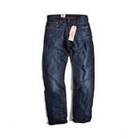 Levis/李维斯男士505系列 春秋男款舒适休闲宽松直筒蓝色牛仔裤