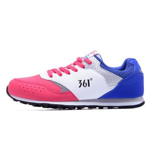 【每满100减50】361度女鞋运动鞋2017 新款耐磨跑步鞋361复古慢跑鞋