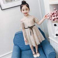 女童连衣裙夏装2018新款儿童蕾丝裙纱裙夏季小女孩公主裙洋气裙子