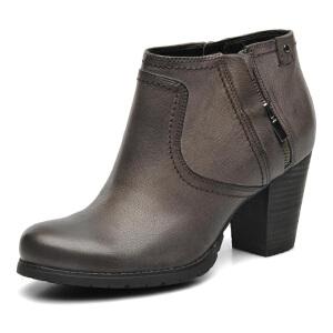 Clarks/其乐女鞋2017秋冬新款真皮时尚休闲短靴Macay Halle专柜正品直邮