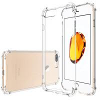 ESCASE 苹果iphone8plus/7Plus手机壳苹果8P/7Plus透明保护套 硅胶防摔软壳 高透气垫防摔