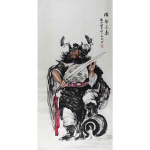 知名人物画家 秦敬斌 浩然之气